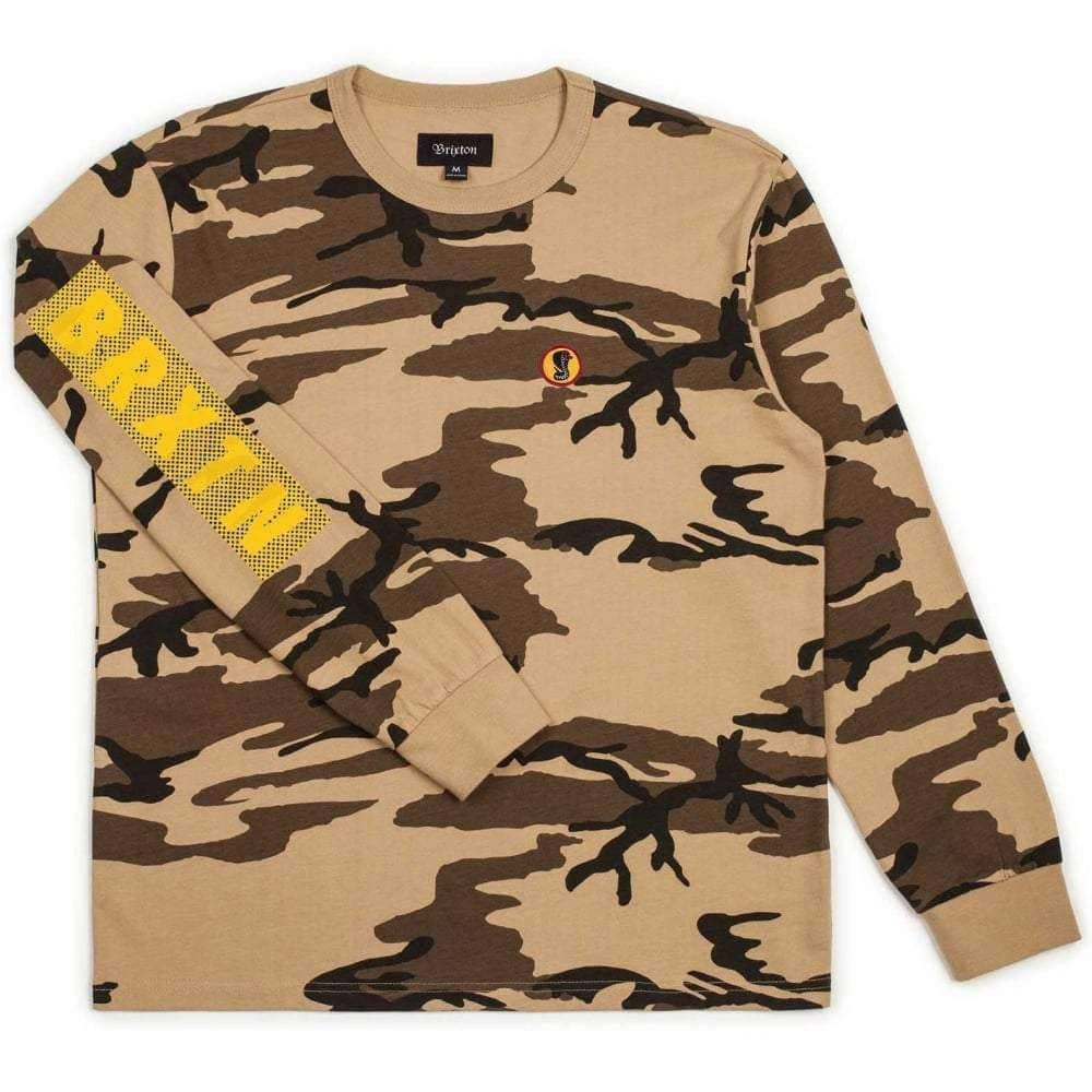 Brixton Fang L/S T-Shirt in Camo Mens Skate Brand T-Shirt by Brixton