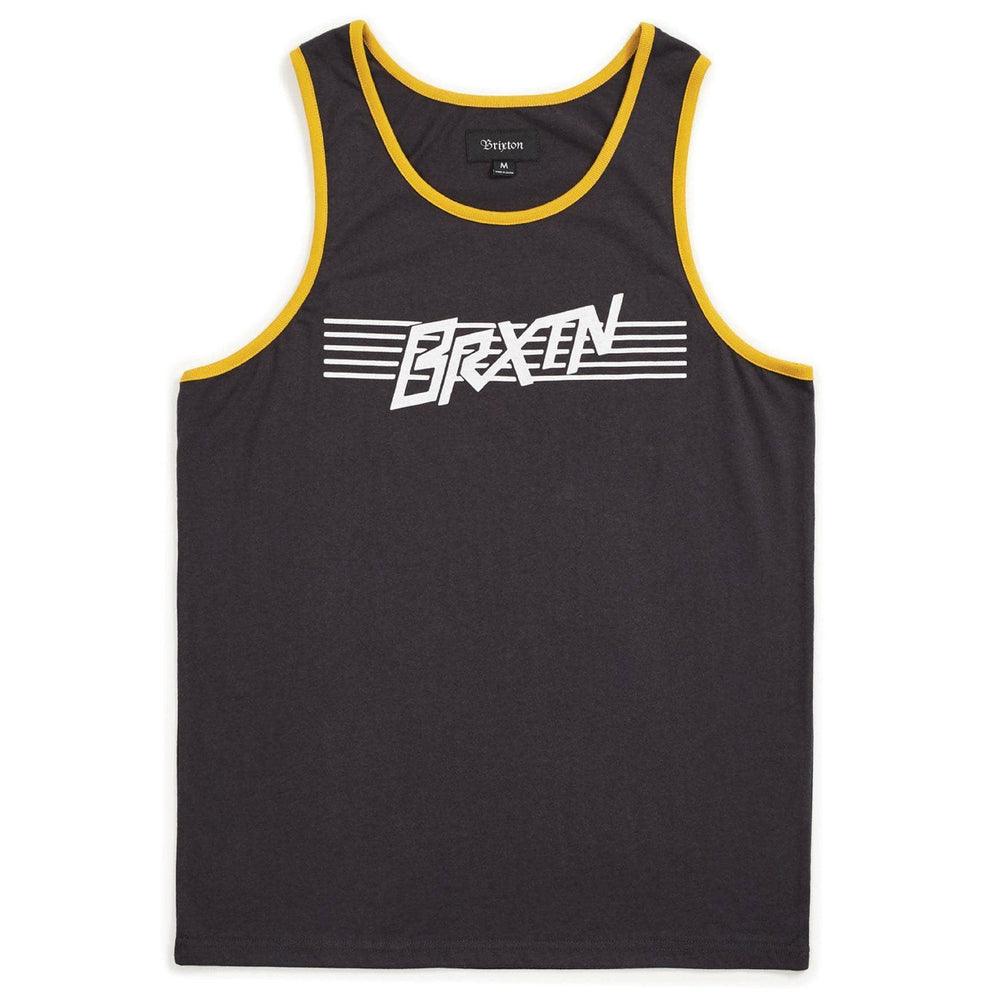 Brixton Hermosa Tank Top Vest - Washed Black Mens Surf Brand Vest/Tank Top by Brixton