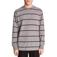 Brixton Hilt Washed L/S Pocket T-Shirt - Heather Grey Pine Mens Plain T-Shirt by Brixton