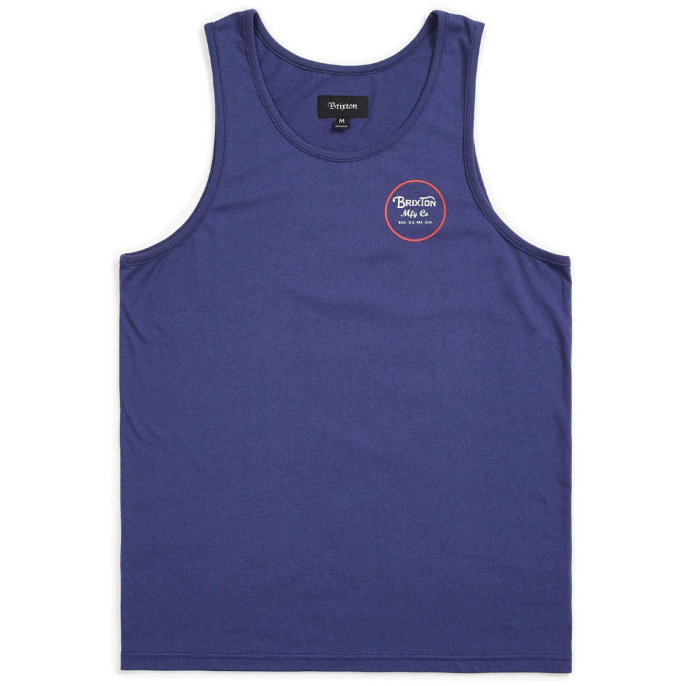 Brixton Wheeler Tank Top Vest - Patriot Blue Mens Surf Brand Vest/Tank Top by Brixton