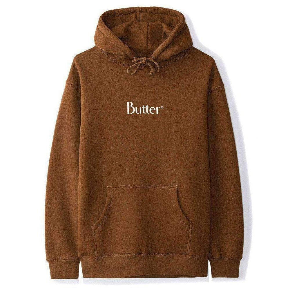 Butter Goods Mens Pullover Hoodie Butter Goods Classic Logo Pullover Hood - Brown
