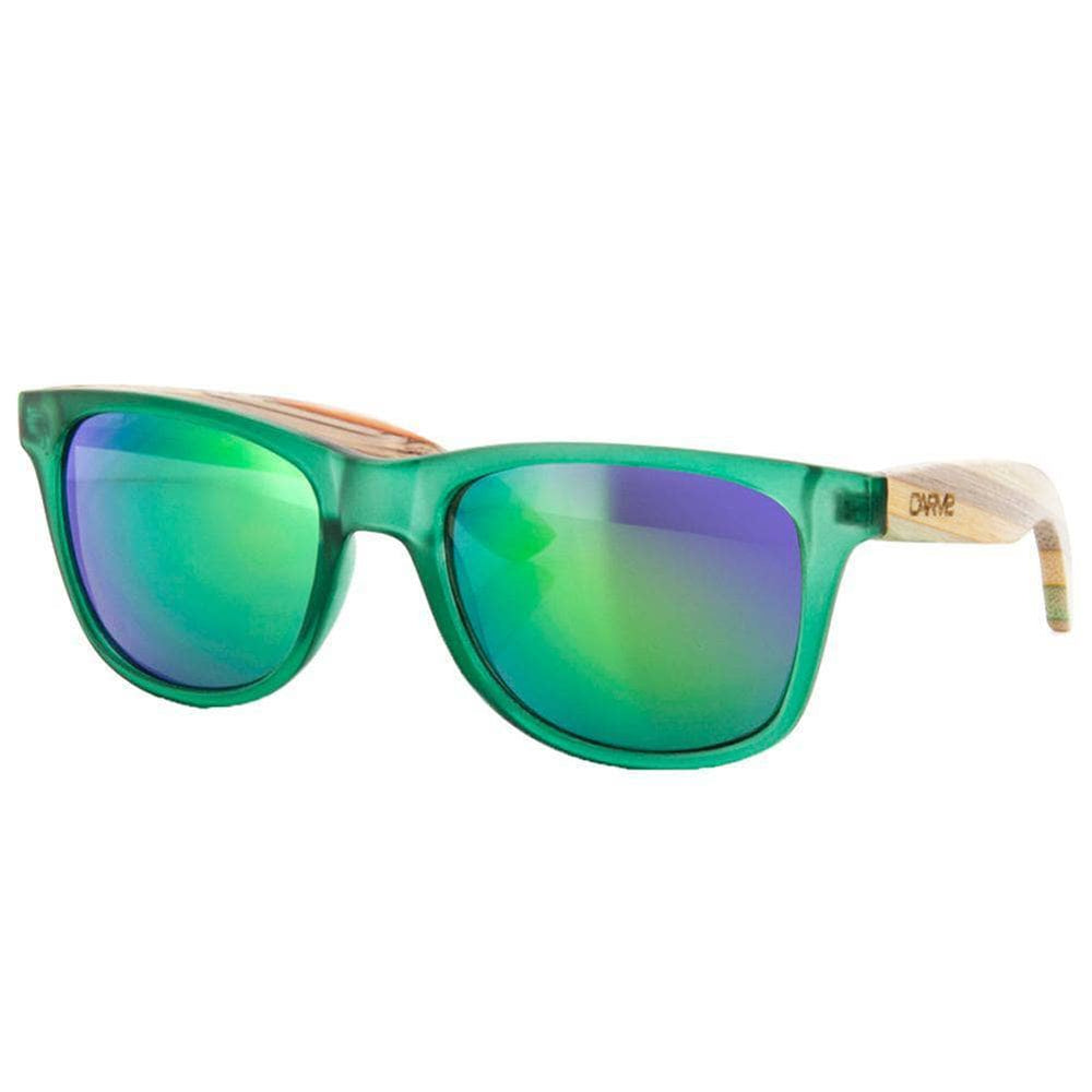 Carve Bronte Sunglasses - Green Iridium Revo Round Sunglasses by Carve O/S (one size)