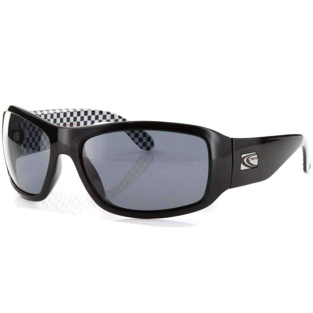 Carve Checkmate Sunglasses Black Polarised Square/Rectangular Sunglasses by Carve