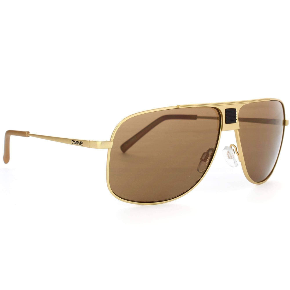 Carve Conflict Sunglasses in Matte Gold Pilot Sunglasses by Carve