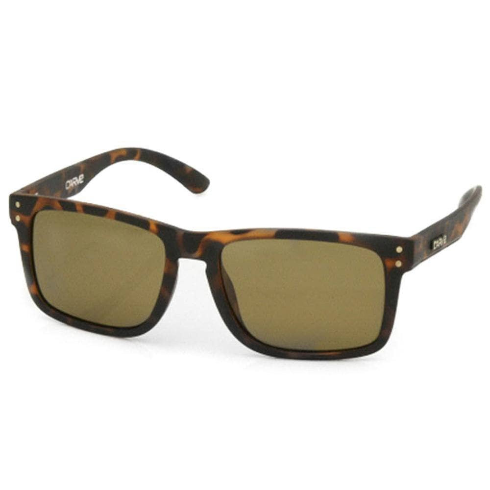 Carve Goblin Polarized Sunglasses Matte Tortoise Polarized N/A Square/Rectangular Sunglasses by Carve