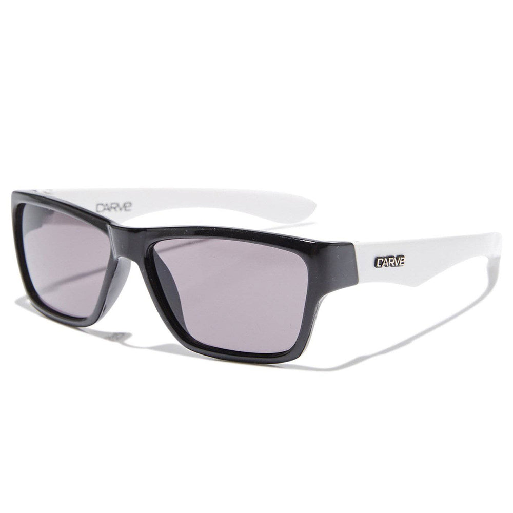 Carve Kids Stinger Sunglasses - Black White Square/Rectangular Sunglasses by Carve N/A