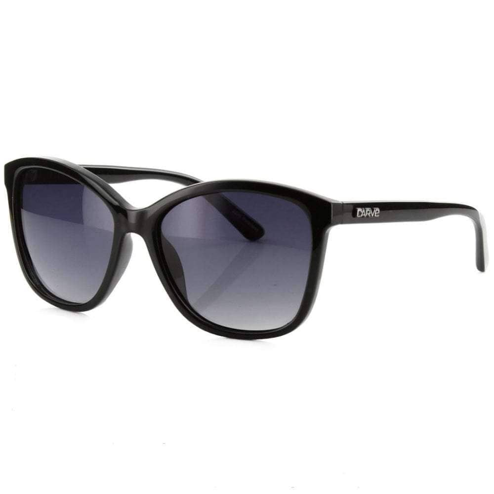 Carve Lila Polarized Sunglasses in Black Cat Eye Sunglasses by Carve