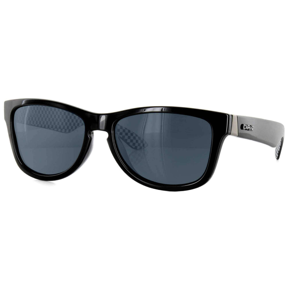 Carve One Step Beyond Polarized Sunglasses in Black Polarized Square/Rectangular Sunglasses by Carve