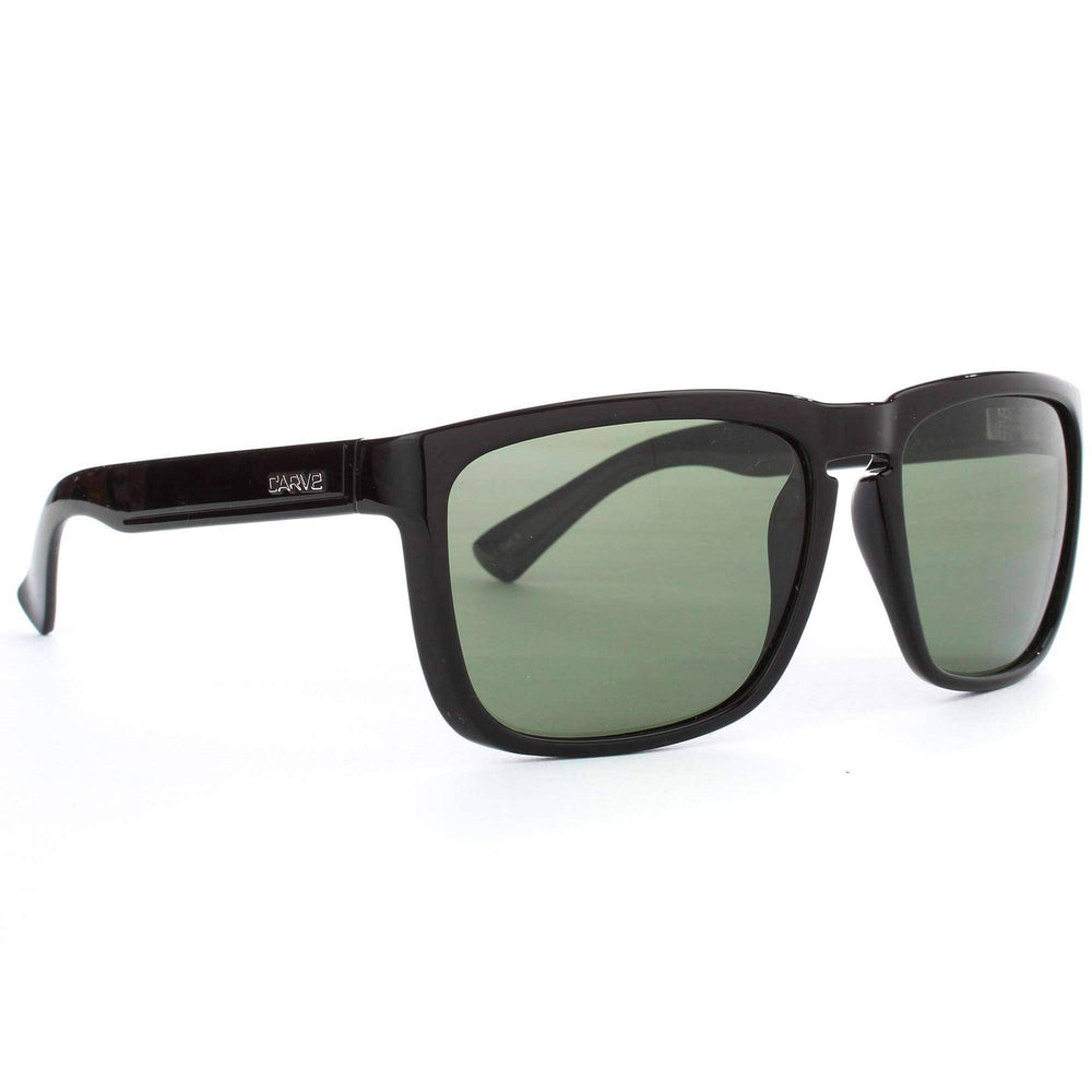 Carve Response Polarised Sunglasses in Black Square/Rectangular Sunglasses by Carve