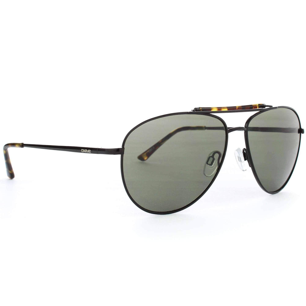 Carve Ritzy Sunglasses in Tortoise Black Pilot Sunglasses by Carve