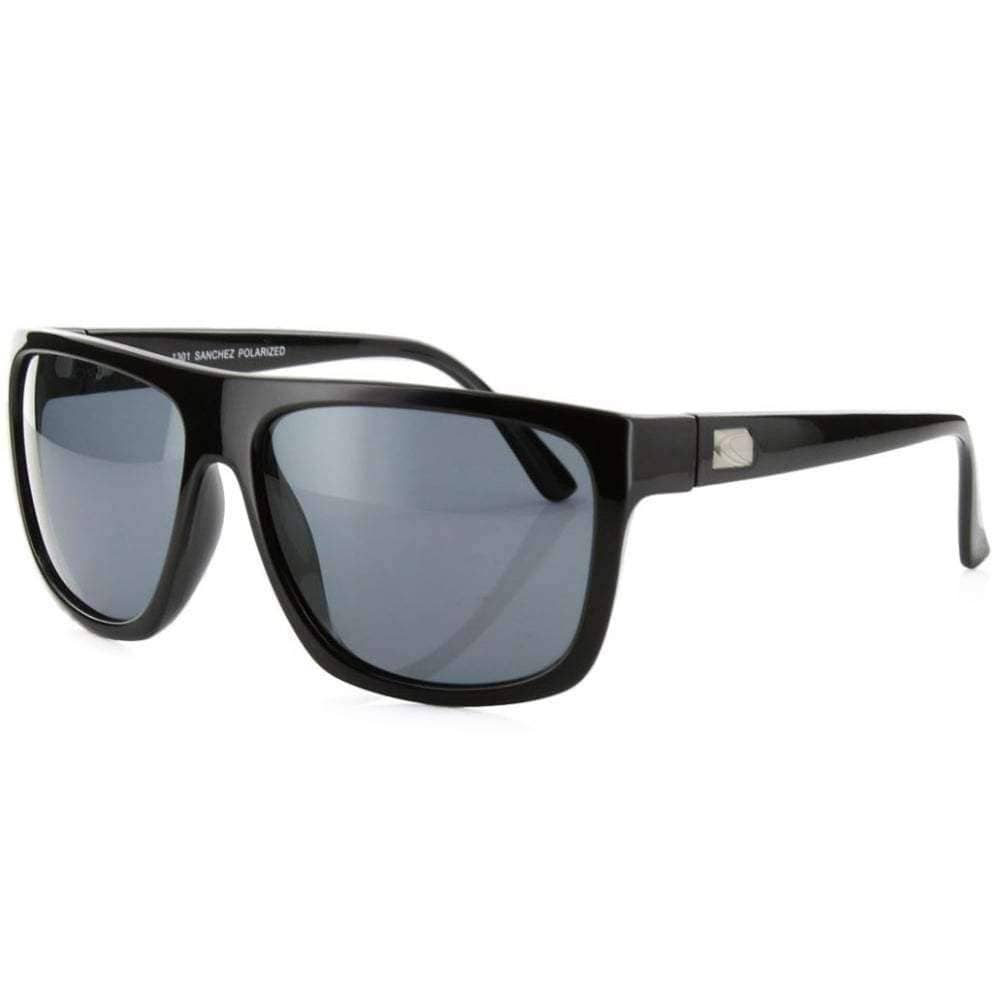 Carve Sanchez Sunglasses in Black Polarised Square/Rectangular Sunglasses by Carve