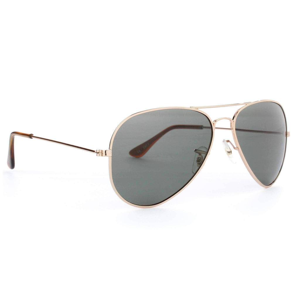 Carve Sky Walker Polarised Sunglasses in Gold Pilot Sunglasses by Carve