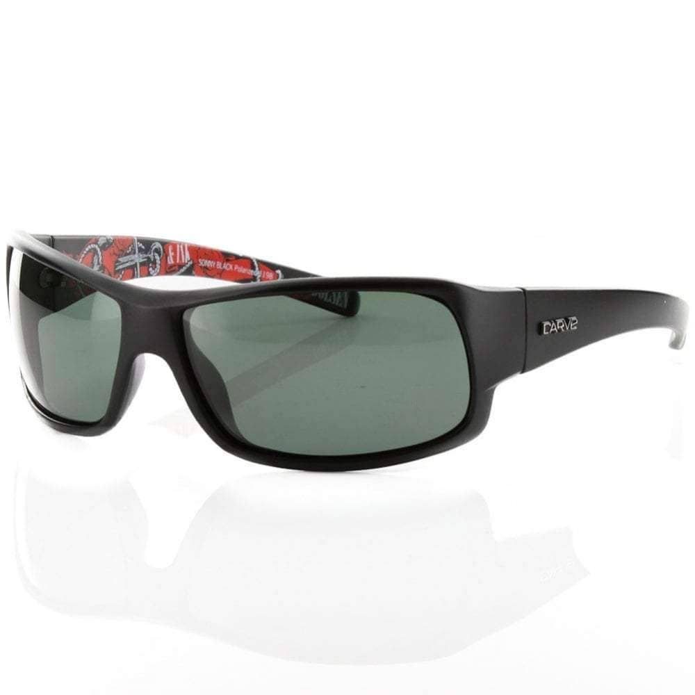 Carve Square/Rectangular Sunglasses Carve Sonny Sunglasses in Matte Black Polarised