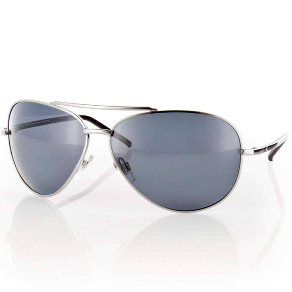 Carve Top Dog Sunglasses in Silver Grey Polarised Pilot Sunglasses by Carve