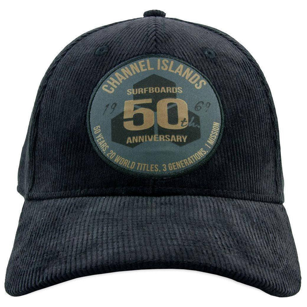 Channel Islands 50 Year Cord Hat - Black Baseball Cap by Channel Islands O/S (one size)