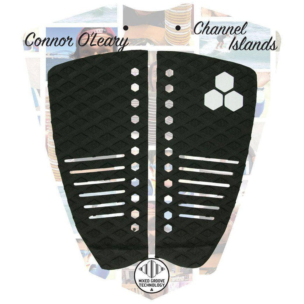 Channel Islands Connor OLeary Tail Pad Surfboard Deck Grip - Black 2 Piece Tail Pad by Channel Islands O/S (one size)