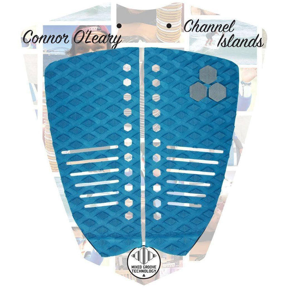 Channel Islands Connor OLeary Tail Pad Surfboard Deck Grip - Indigo 2 Piece Tail Pad by Channel Islands O/S (one size)