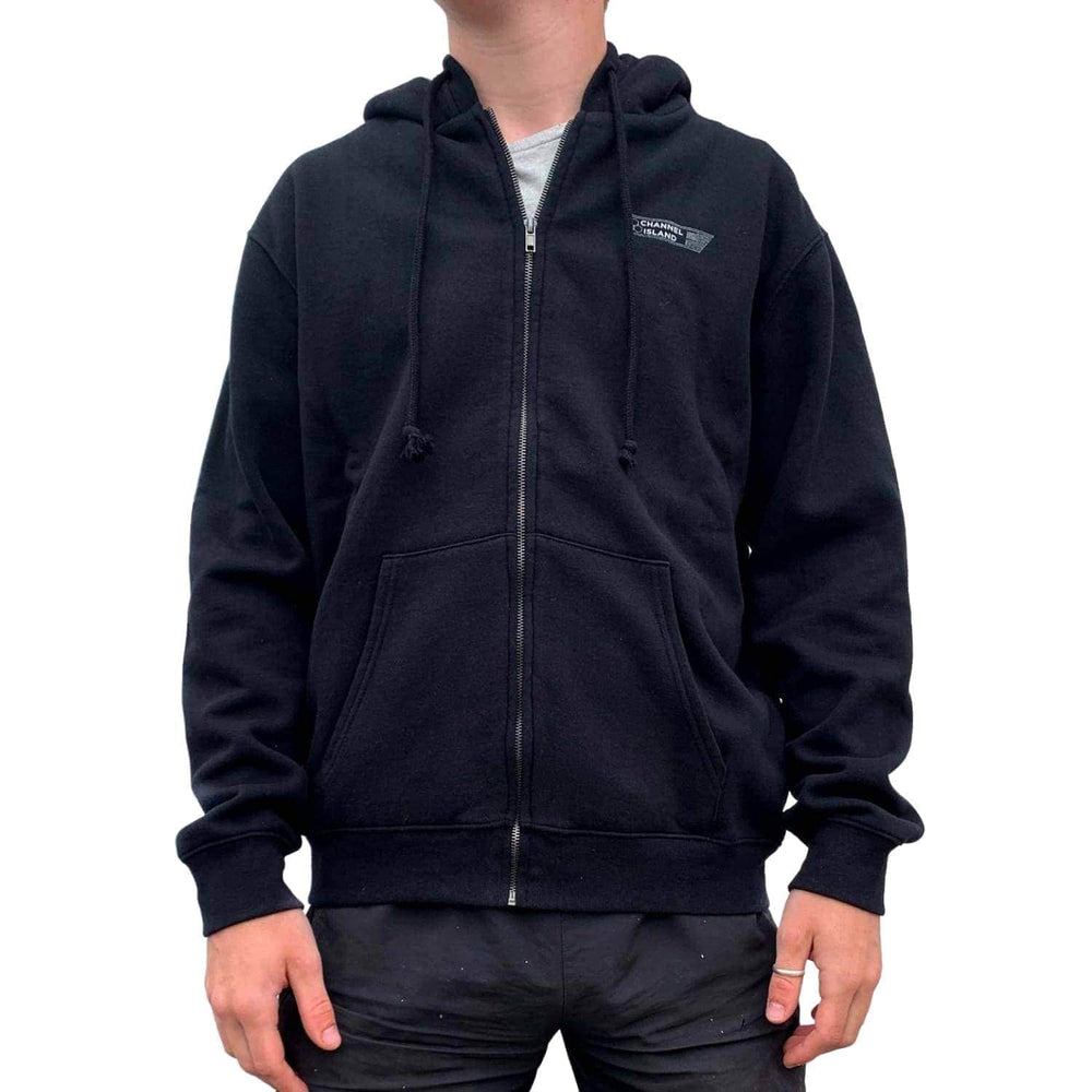 Channel Islands USA Zip Hood - Black Mens Zip Up Hoodie by Channel Islands