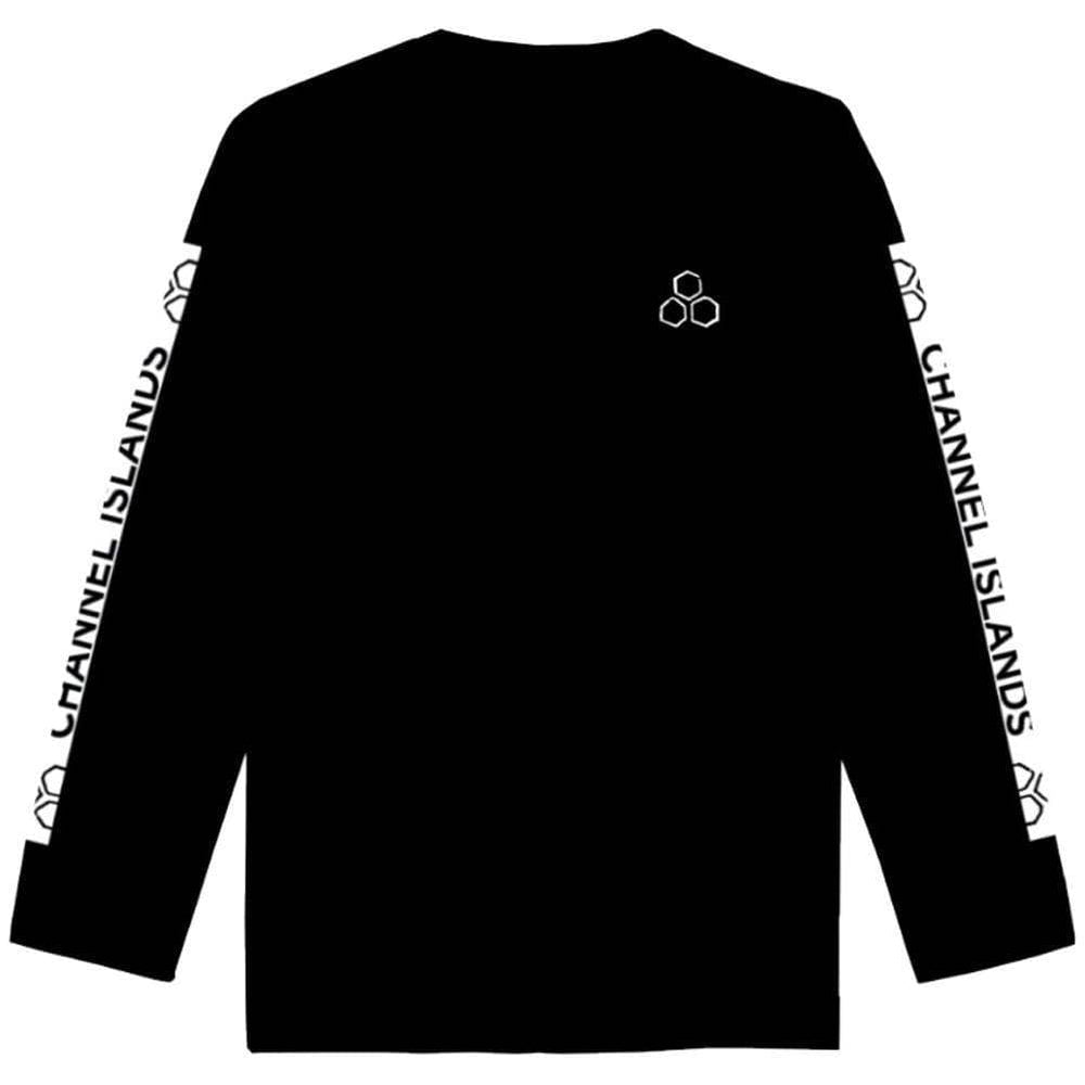 Channel Islands White Hex Crew - Black Mens Crew Neck Sweatshirt by Channel Islands