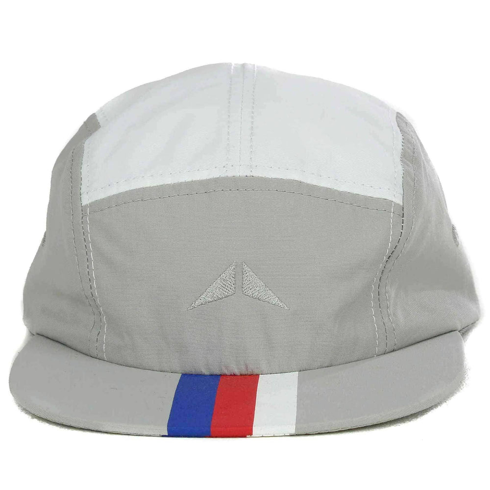 Crupie Delta 17 5 Panel Cap in White Grey Strapback Cap by Crupie