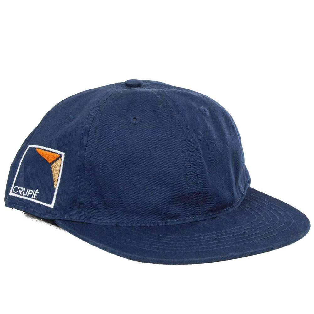 Crupie Square One 6 Panel Dad Hat in Blue Strapback Cap by Crupie
