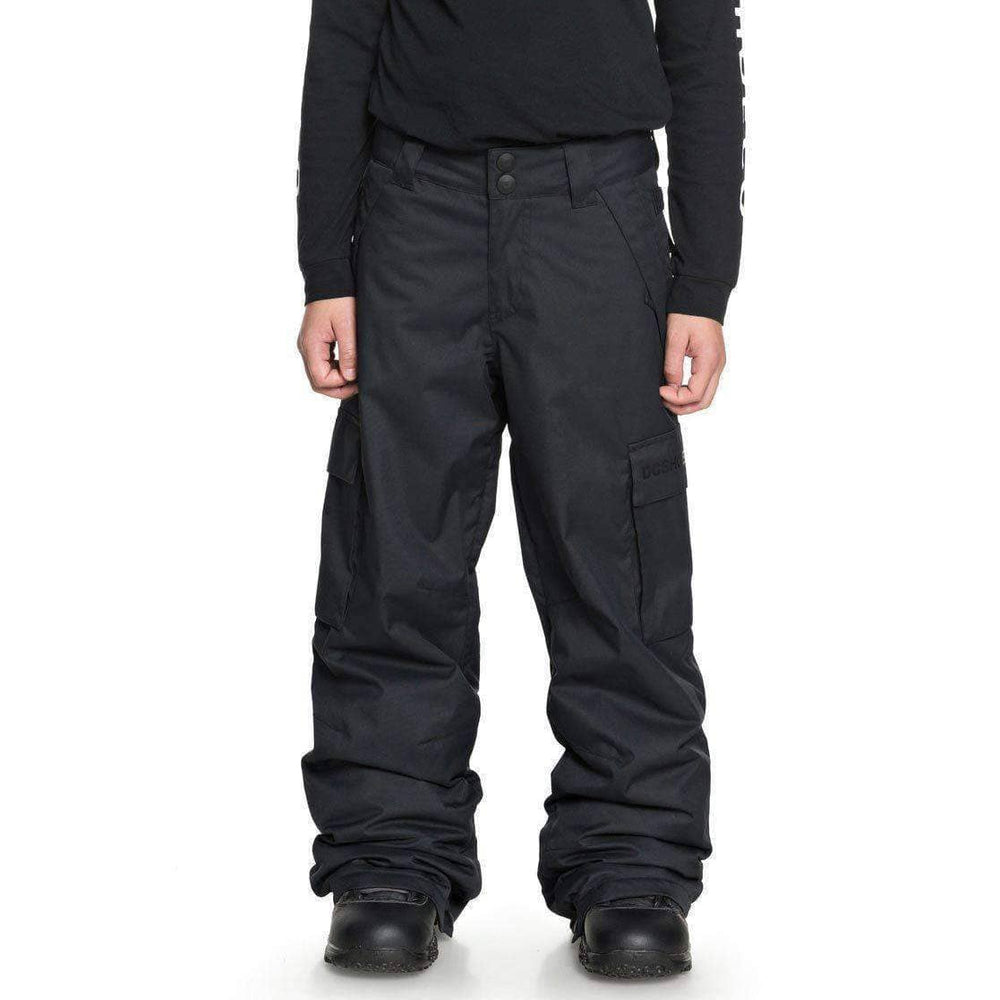 DC Boys Banshee Kids Snow Pants - Black Kids Snowboard/Ski Pants/Trousers by DC