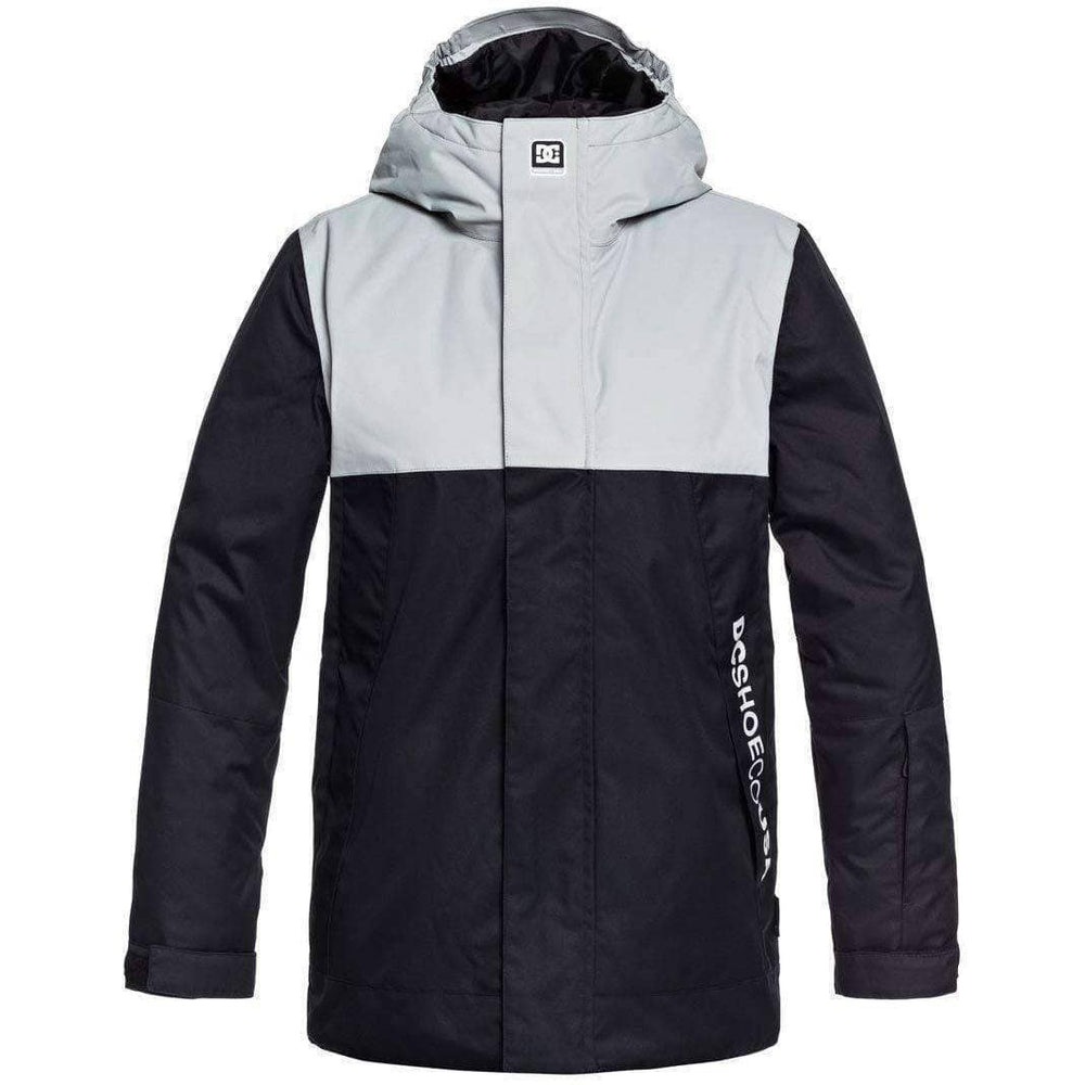 DC Boys Defy Kids Snow Jacket - Black Boys Snowboard/Ski Jacket by DC