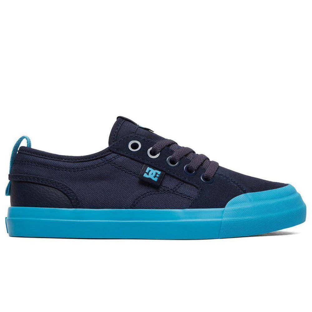 DC Boys Evan Smith Skate Shoes - Navy Bright Blue Boys Skate Shoes by DC