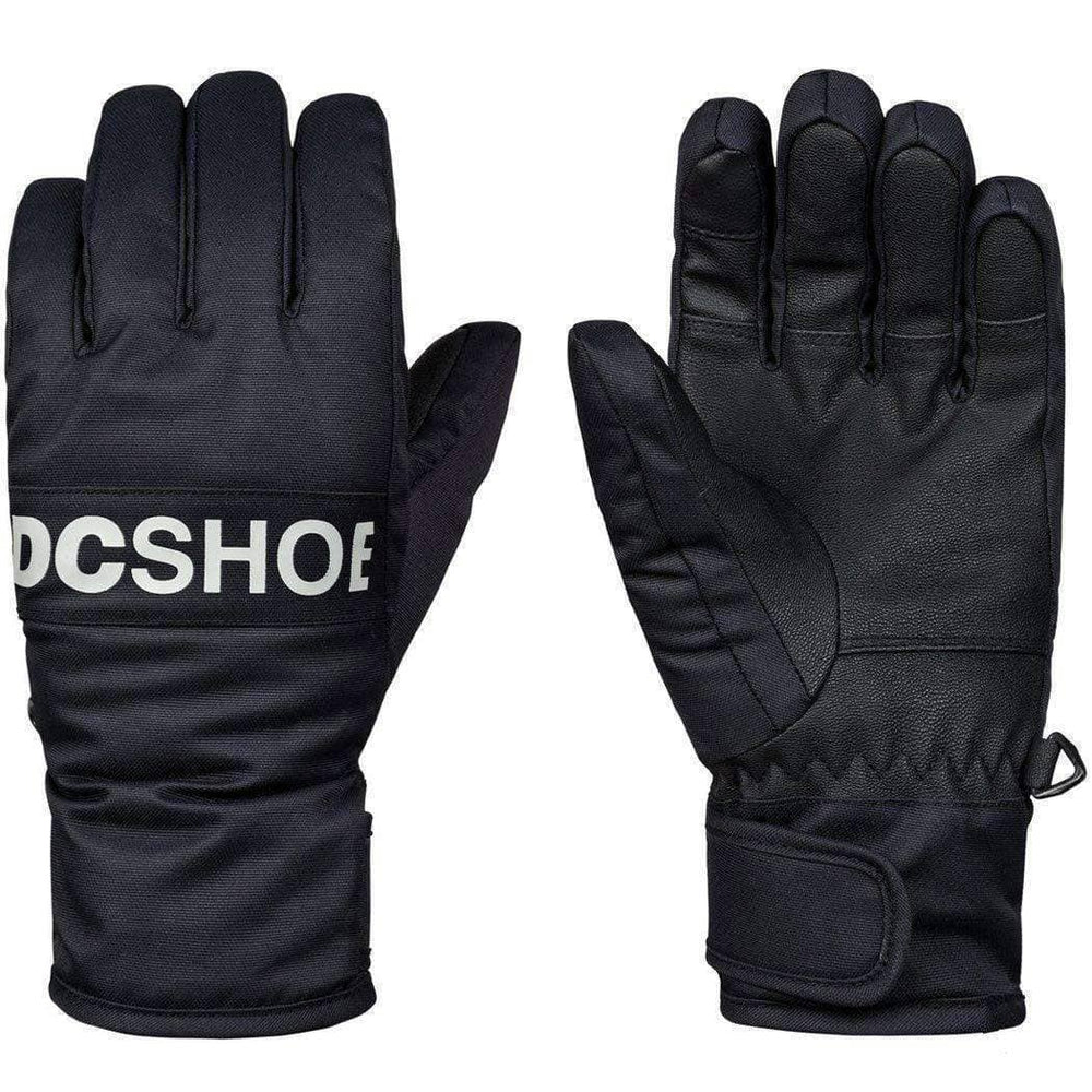 DC Boys Franchise Kids Snowboard / Ski Gloves - Black Snowboard/Ski Gloves by DC