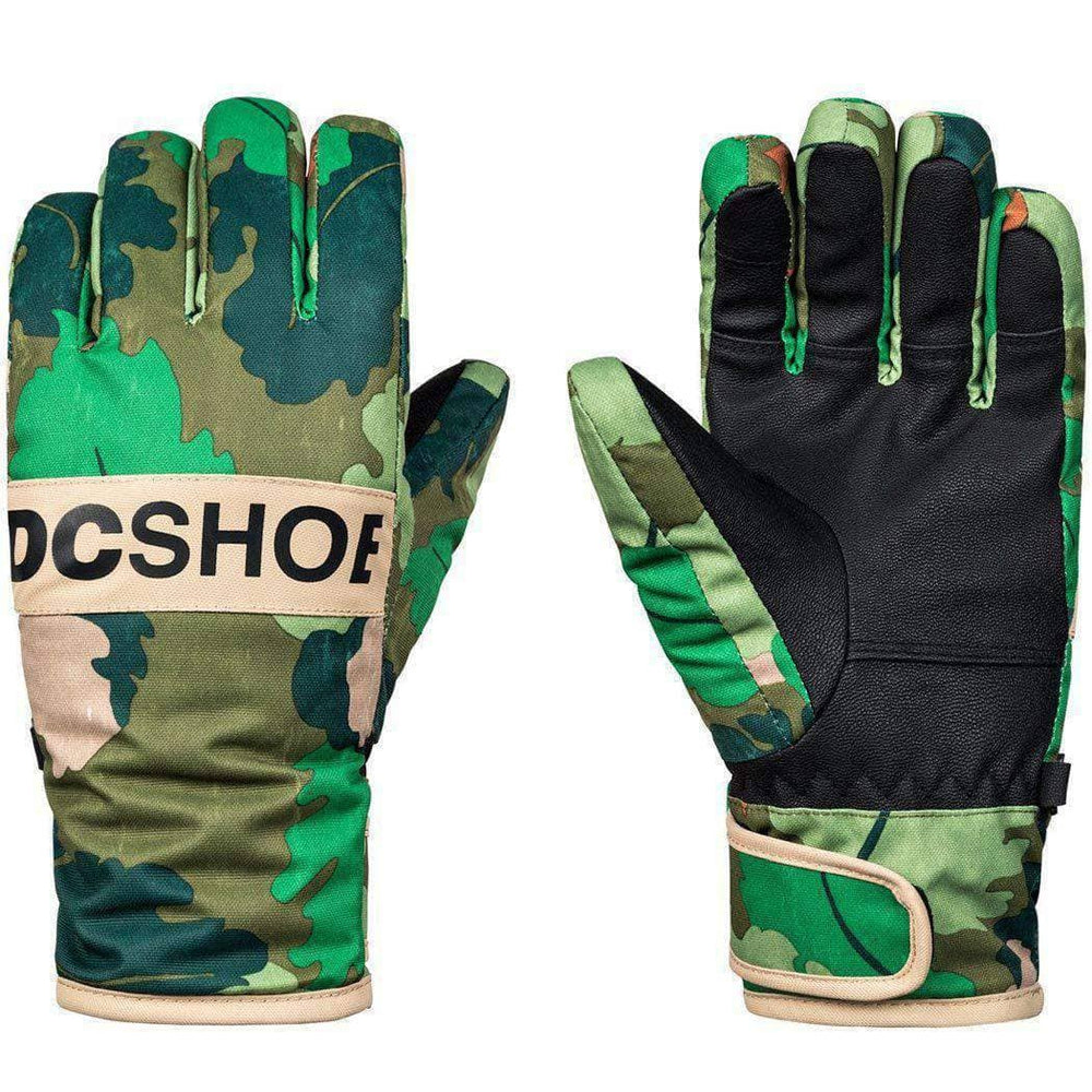 DC Boys Franchise Kids Snowboard / Ski Gloves - Chive Leaf Camo Snowboard/Ski Gloves by DC