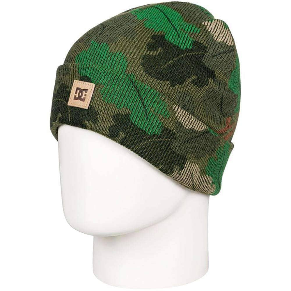 DC Boys Label Youth 2 Kids Beanie Chive Leaf Camo N/A Kids Beanie Hat by DC