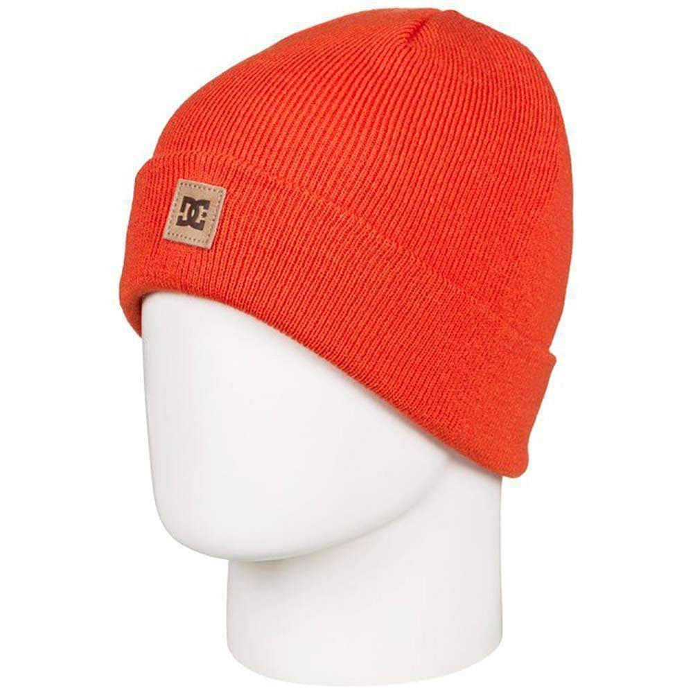 DC Kids Beanie Hat DC Boys Label Youth 2 Kids Beanie Red Orange N/A