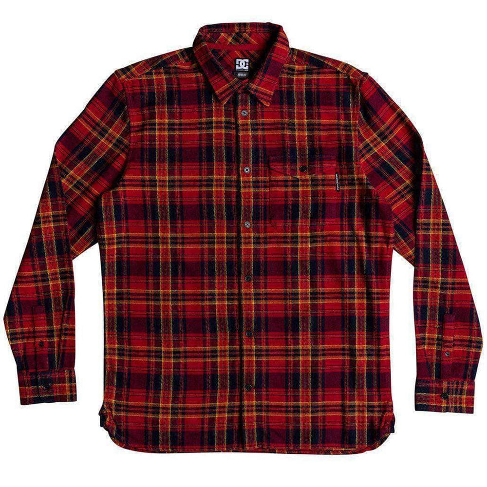 DC Boys Marsha L/S FLannel Shirt - Tango Red Boys Flannel Shirt by DC