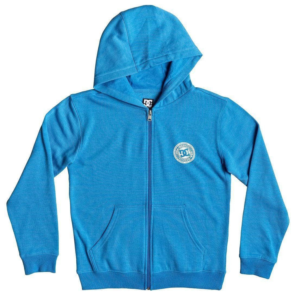 DC Boys Rebel Zip Hoodie - Brilliant Blue Boys Zip Up Hoodie by DC