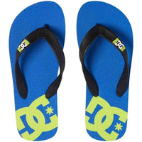 DC Boys Spray Kids Sandals in Blue Black Boys Flip Flops by DC