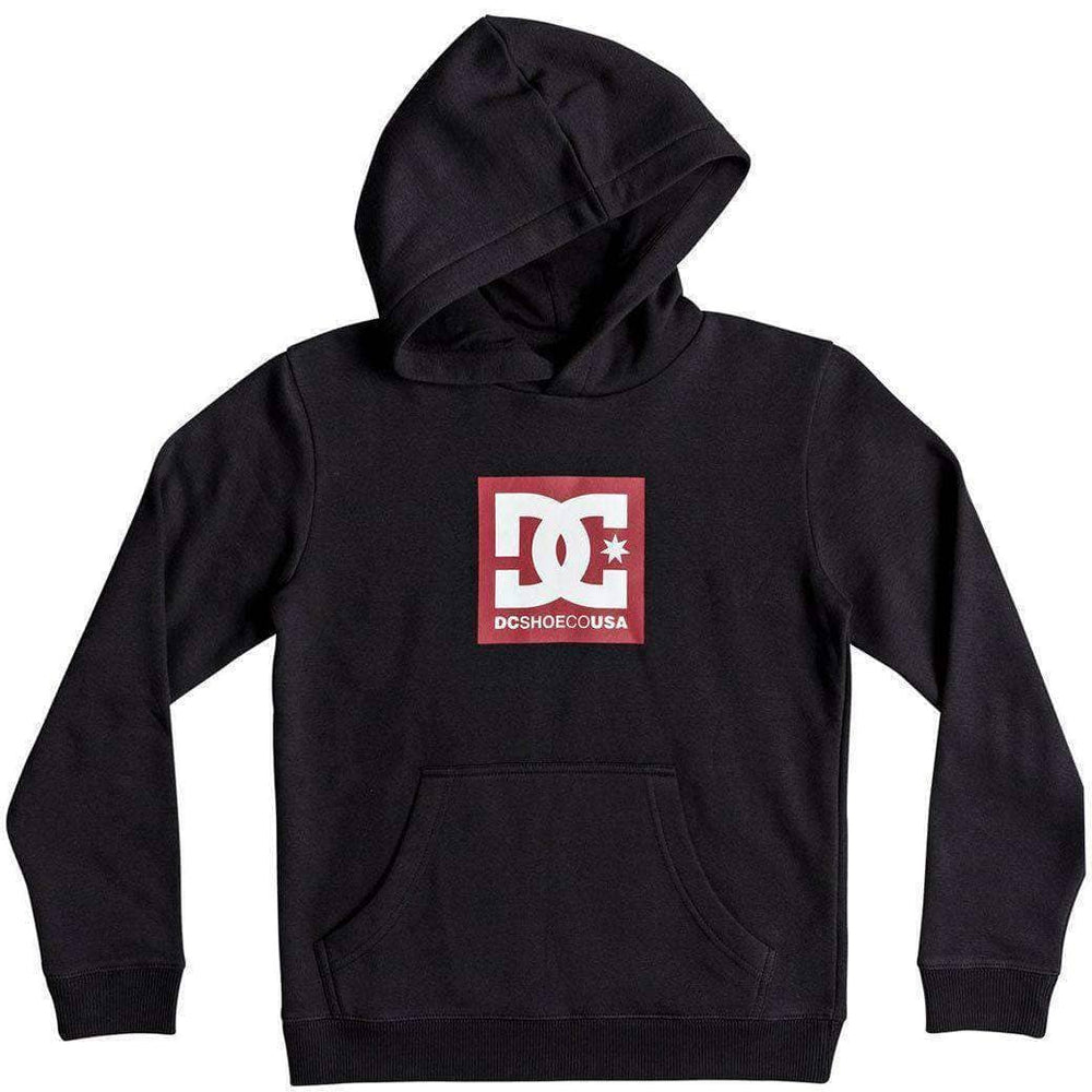 DC Boys Square Star Kids Hood - Black Boys Pullover Hoodie by DC