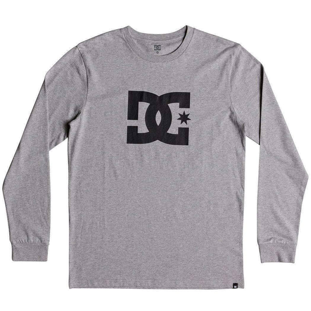 DC Boys Skate Brand T-Shirt DC Boys Star L/S Kids T-Shirt - Grey Heather