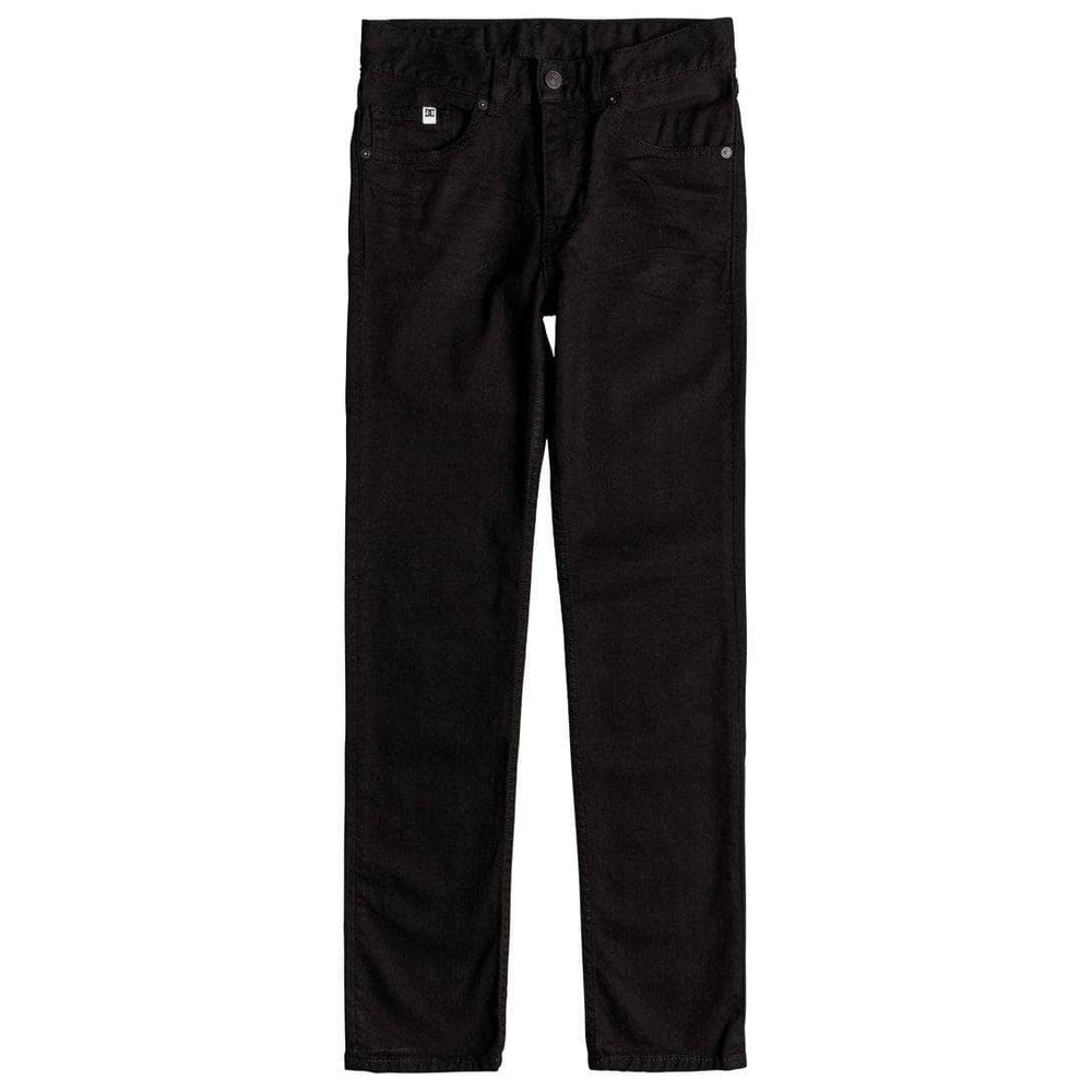 DC Boys Worker Slim Stretch Denim - Black Rinse Boys Skinny Denim Jeans by DC