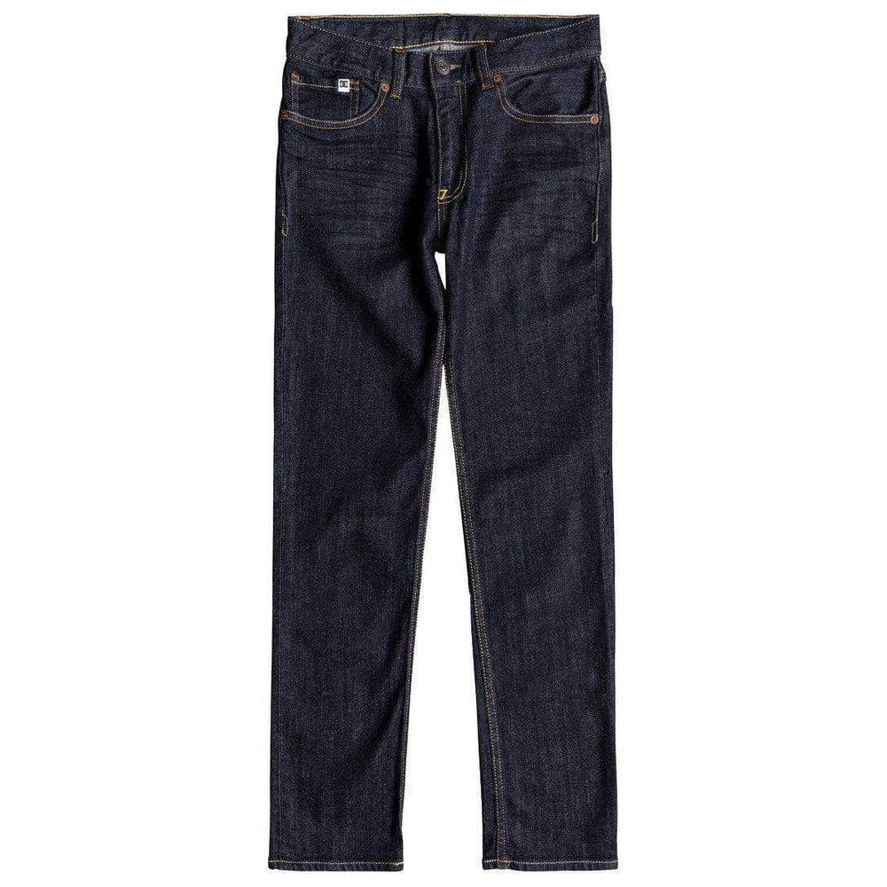 DC Boys Worker Slim Stretch Denim - Indigo Rinse Boys Skinny Denim Jeans by DC