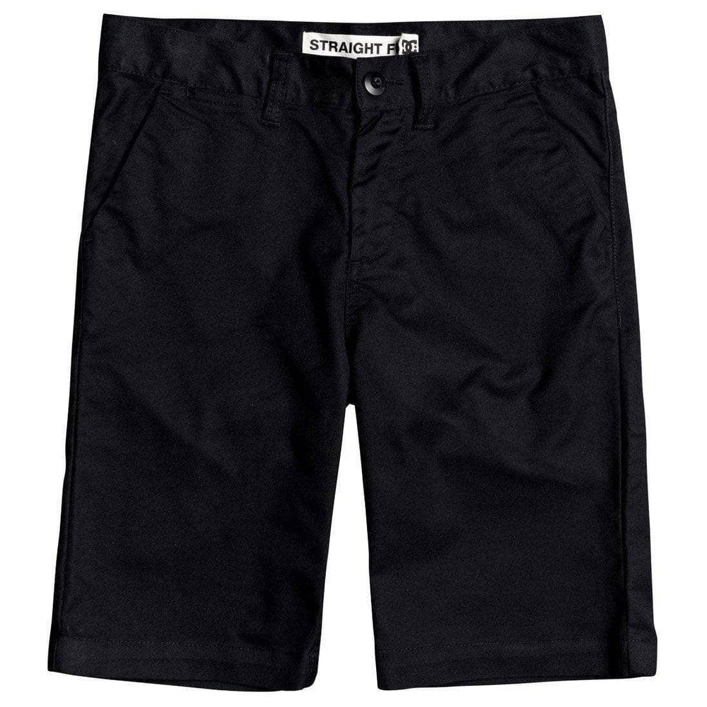 DC Boys Worker Straight 18.5 Chino Shorts - Black Boys Chino Shorts by DC