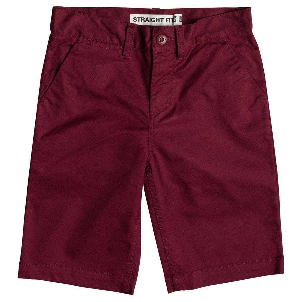 DC Boys Worker Straight 18.5 Chino Shorts - Cabernet Boys Chino Shorts by DC