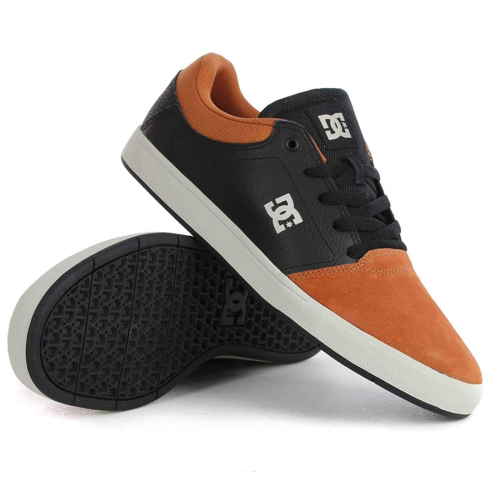 DC Crisis SE Shoes in Black Brown Black Mens Skate Shoes by DC