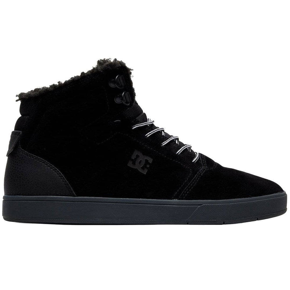 DC Crisis WNT Winter Mid Top Shoes Black Grey Mens High Top Trainers by DC