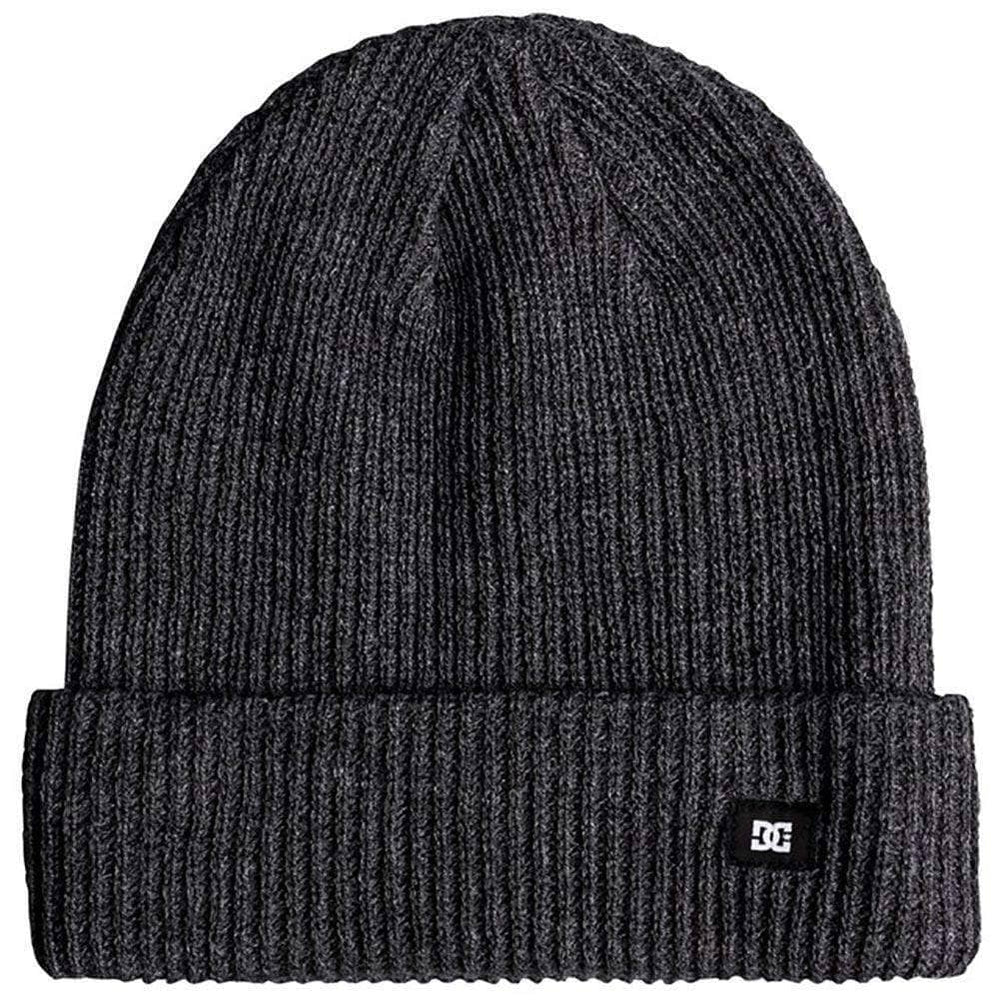 DC Harvester Beanie Grey Heather N/A Fold Beanie Hat by DC