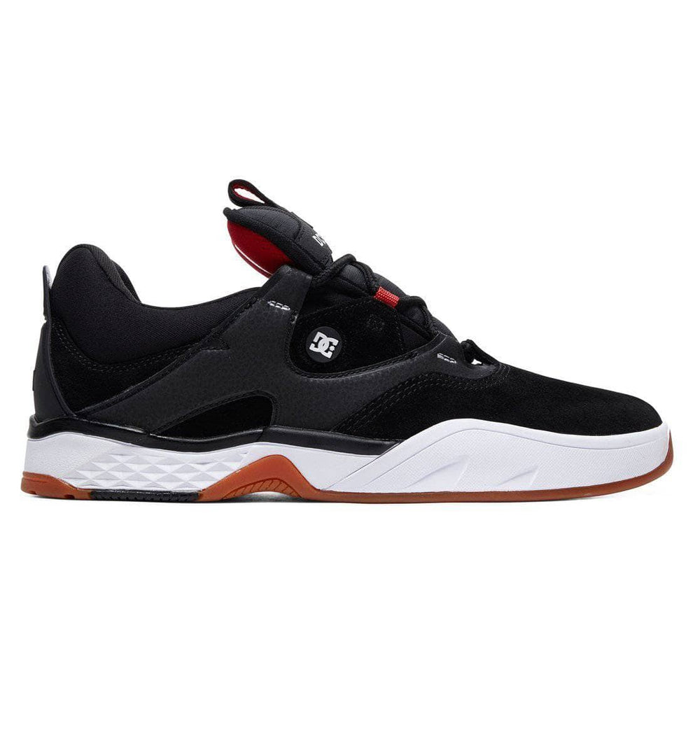 DC Kalis S Skate Shoes - Black White Red Mens Skate Shoes by DC