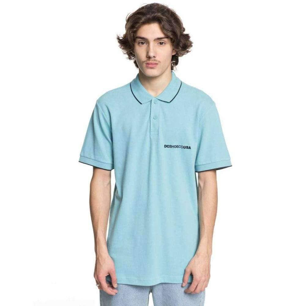 DC Lakebay Polo Shirt in Marine Blue Mens Polo Shirt by DC