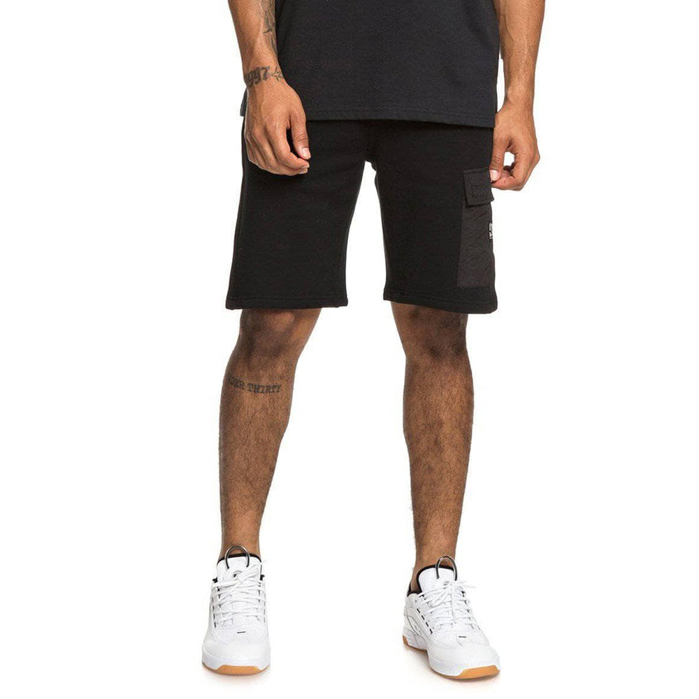 DC Simmons Sweat Shorts - Black Mens Gym Shorts by DC