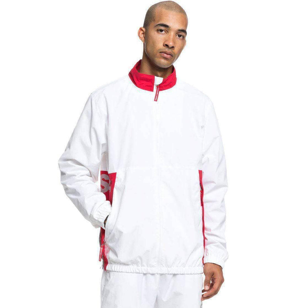 DC Skate Track Top Jacket - White Mens Windbreaker/Rain Jacket by DC
