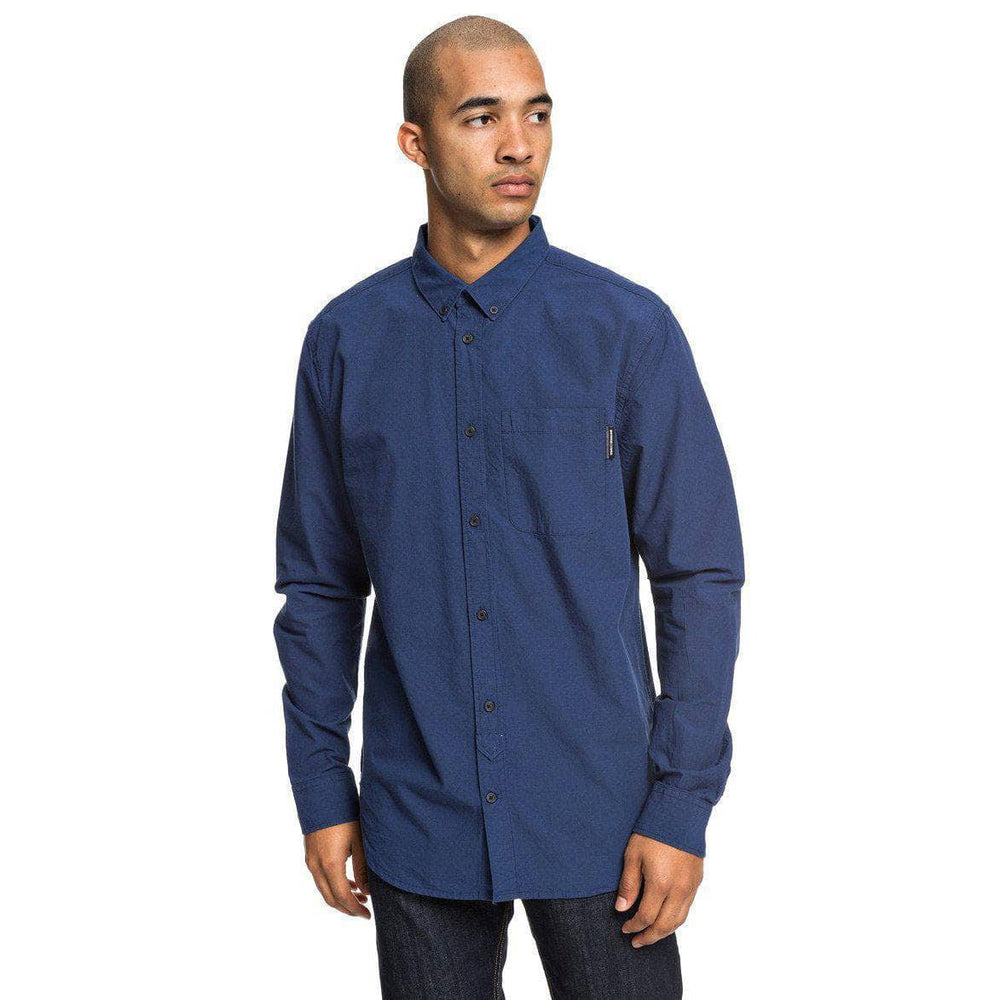 DC Small Mark L/S Shirt - Nautical Blue Mens Casual Shirt by DC