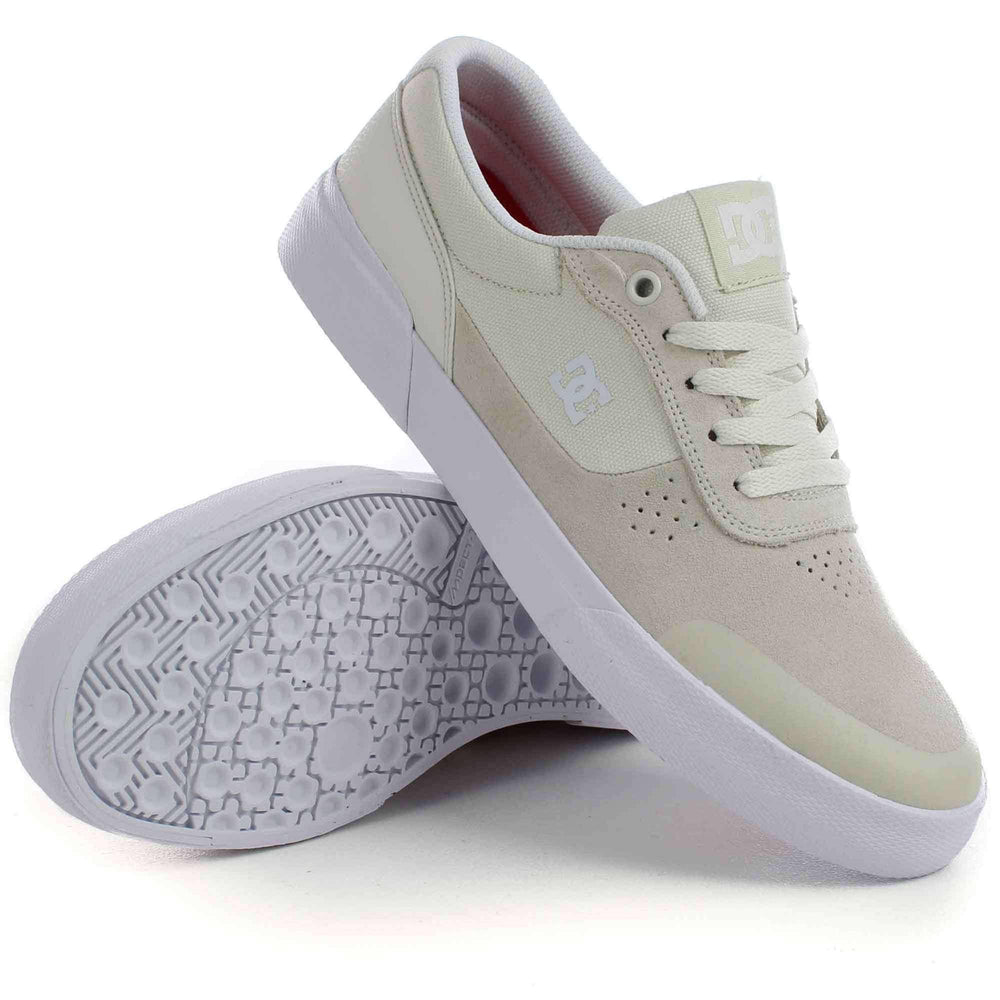 DC Switch Plus S Skate Shoes in White Mens Skate Shoes by DC